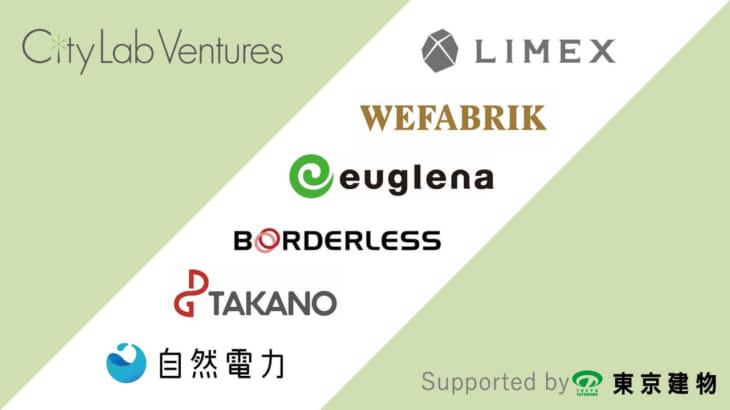 株式会社ウィファブリック含むサステイナビリティ特化型ベンチャー6社と東京建物株式会社が「City Lab Ventures」始動